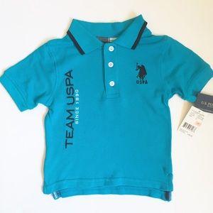 Turquoise Polo Shirt (Boys-2T)